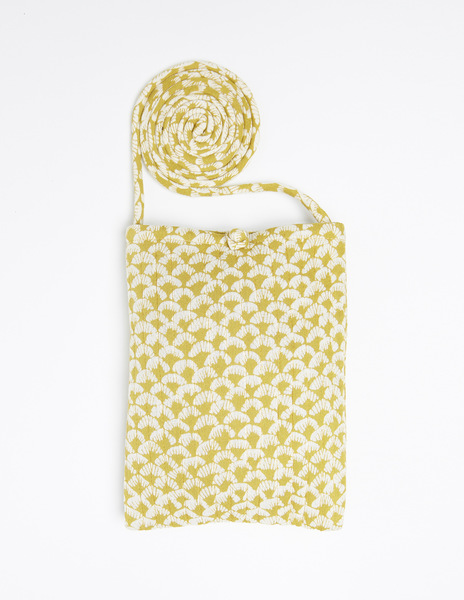 Mustard print shoulder bag