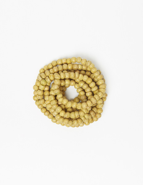 Mustard bead necklace