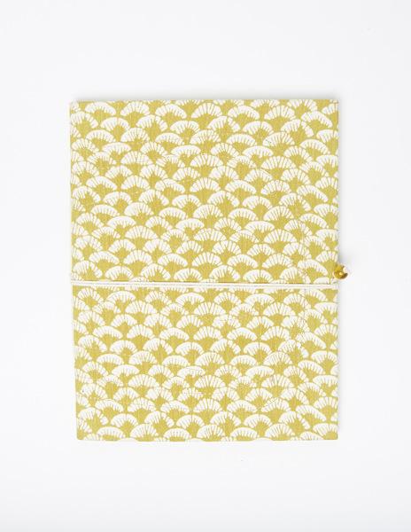 Mustard print notebook