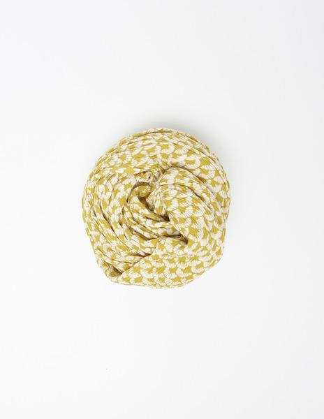 Mustard print mini scarf