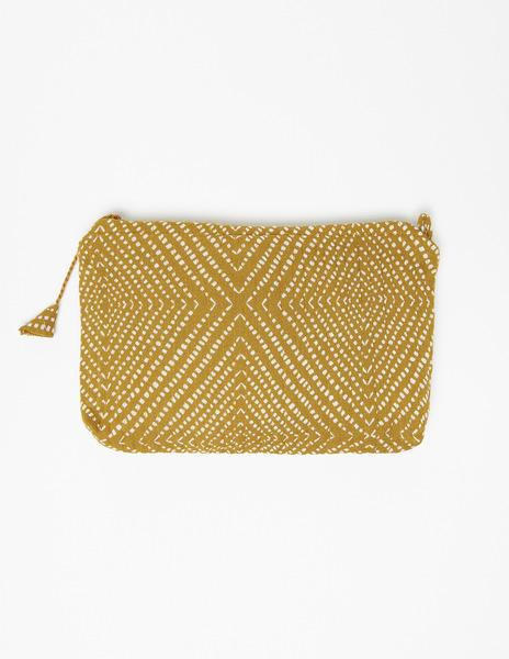 Mustard make-up bag bag