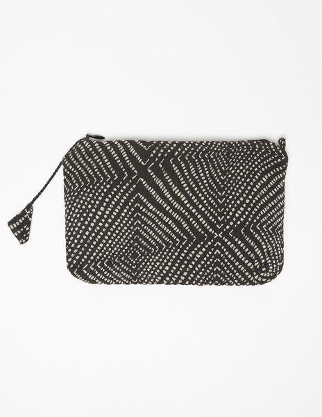 Black polka dot make-up bag