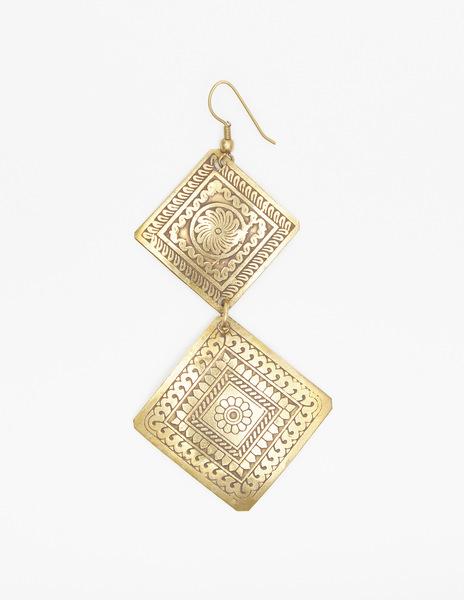 Two diamond earrings