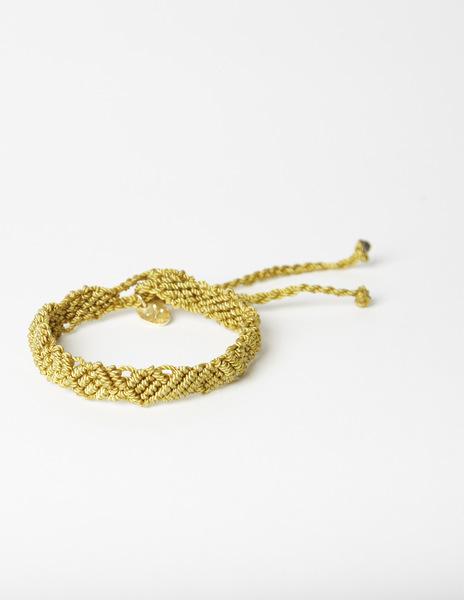Mustard thread bracelet