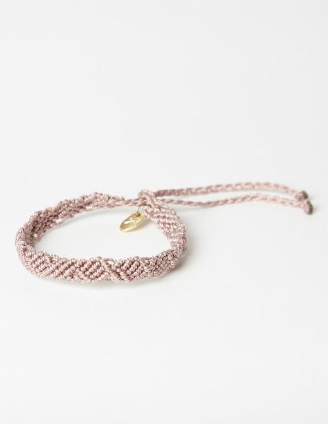 Pink thread bracelet