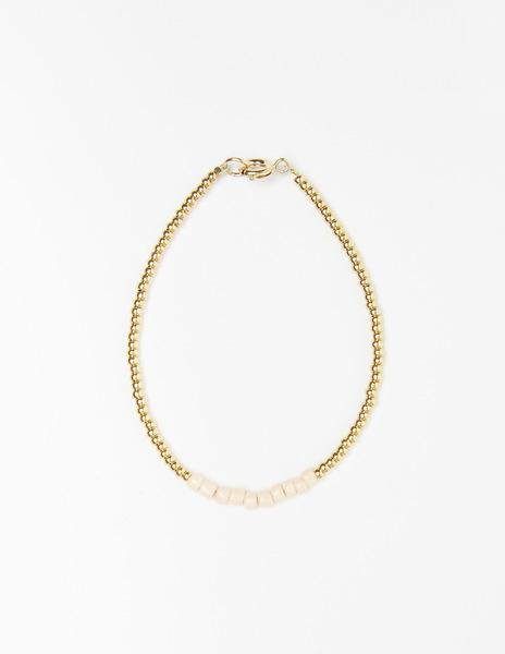 Off-white bead bracelet