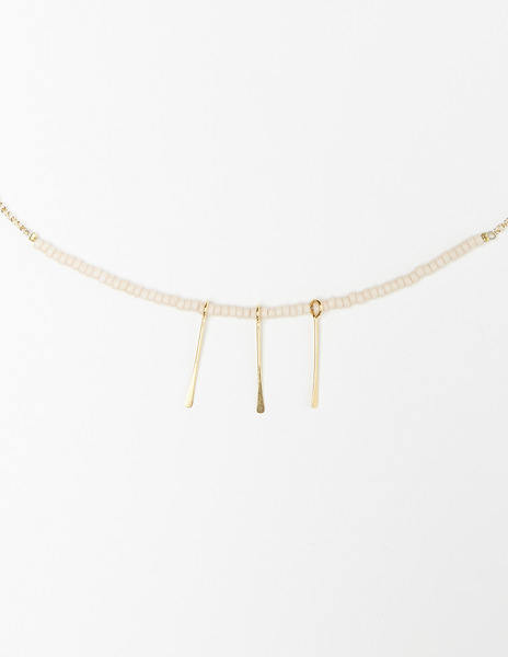 Pink sticks necklace