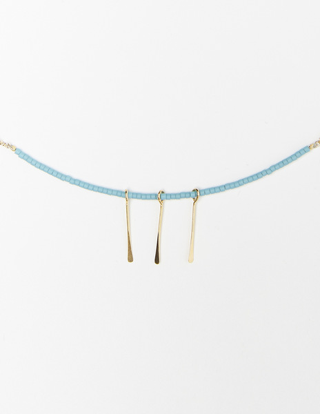 Turquoise sticks necklace