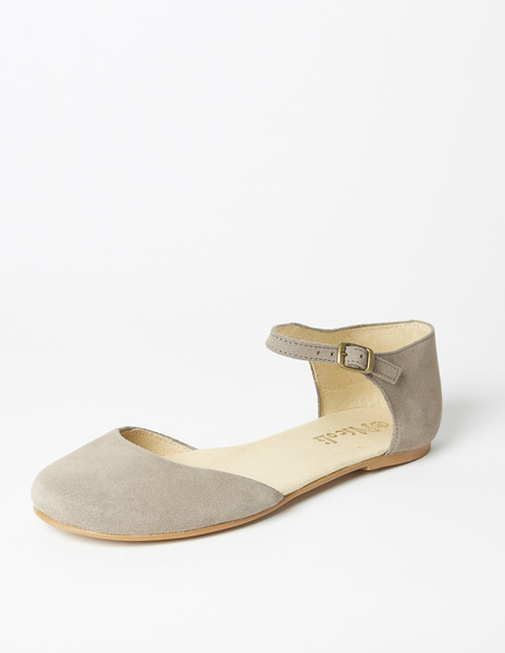 Grey open side mary janes (32-34)