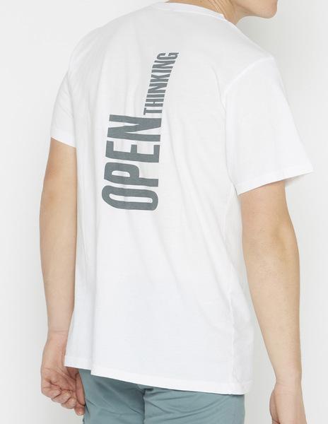 Boys' white OPEN THINKING t-shirt