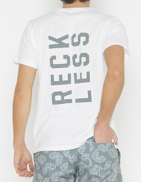 White RECKLESS t-shirt