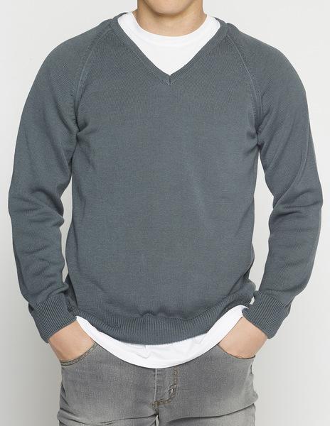 Dark blue v-neck sweater