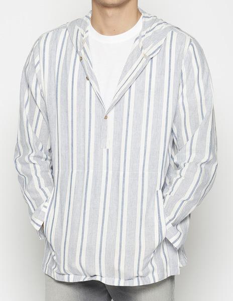 Blue striped djellaba