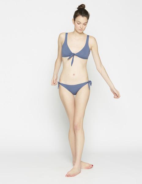 Dark blue knot bikini top