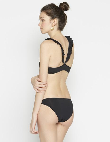 Black frilled bikini top