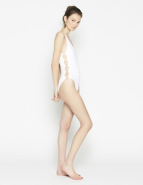 White ring swimsuit