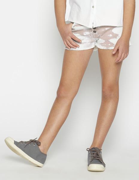 Light pink tie dye shorts