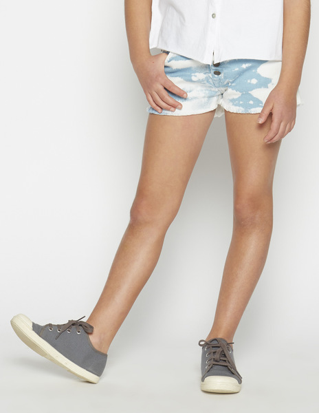 Turquoise tie dye shorts