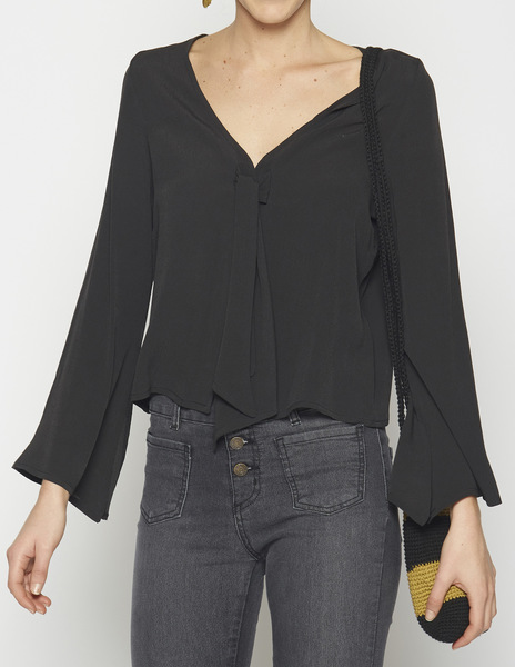 Anthracite bell sleeve top