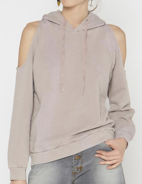 Girls' blackberry slit hoodie