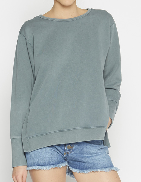 Dark green roundneck sweatshirt