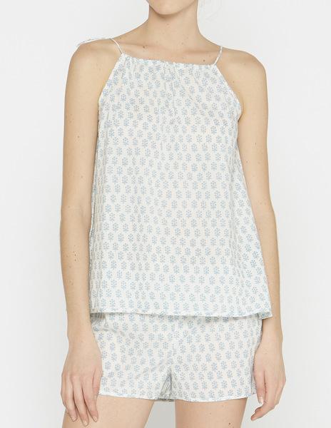 White buti print pyjamas