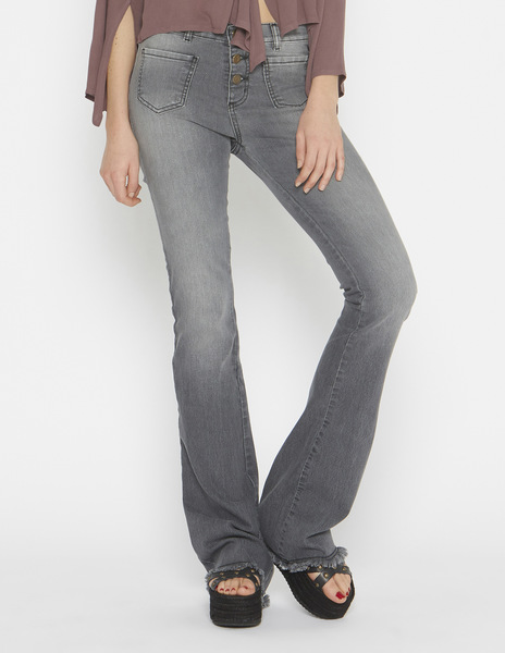 Girls' grey flared jeans