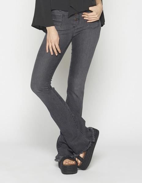 Girls' black flared jeans