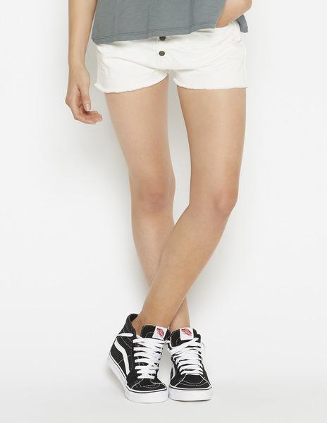White mom shorts