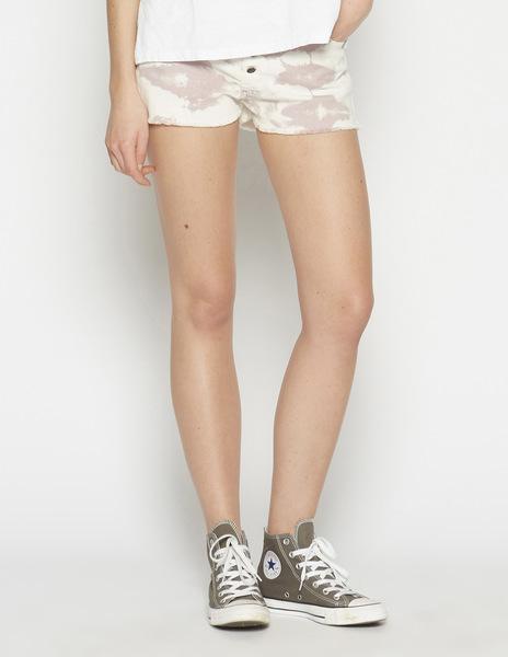 Light pink tie dye mom shorts