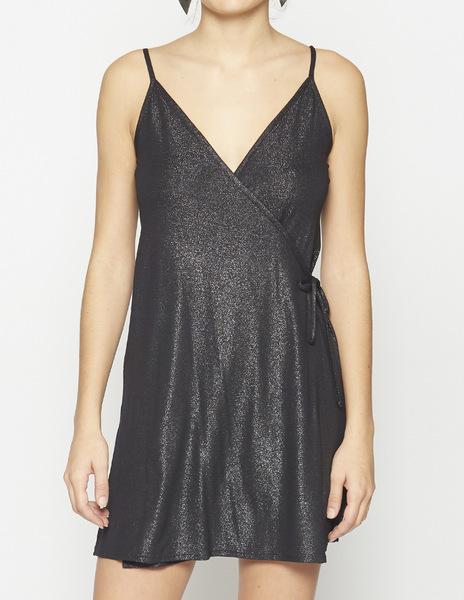 Shiny cross strap dress