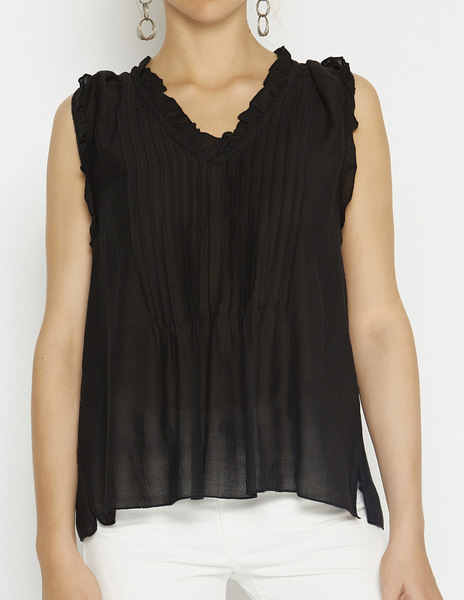 Anthracite voile top
