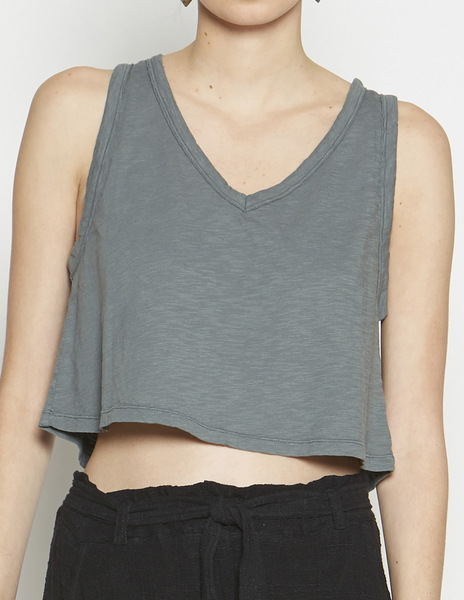 Dark green v-neck top