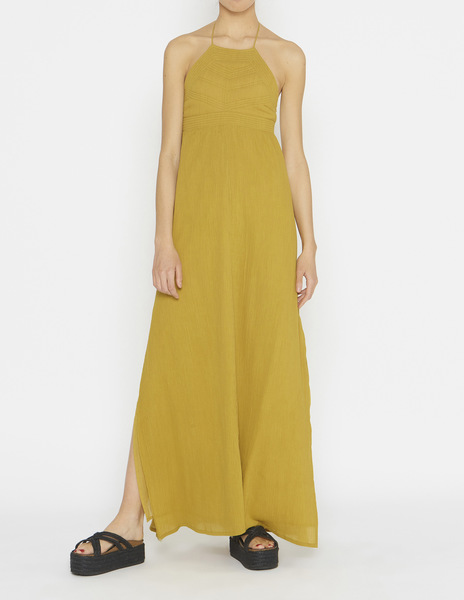 Mustard quilted dress
