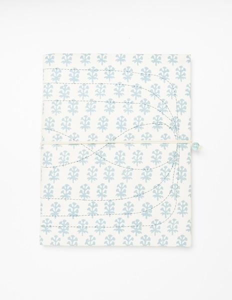 White buti print notebook
