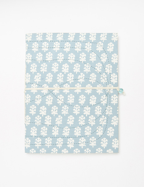 Turquoise buti print notebook