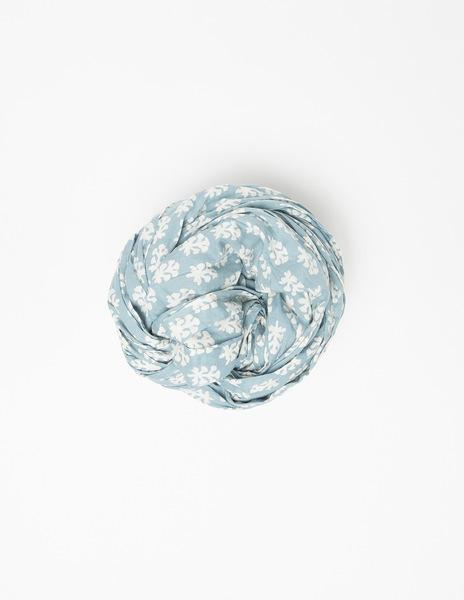 Turquoise buti print mini scarf