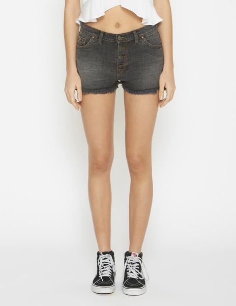 Black mom denim shorts