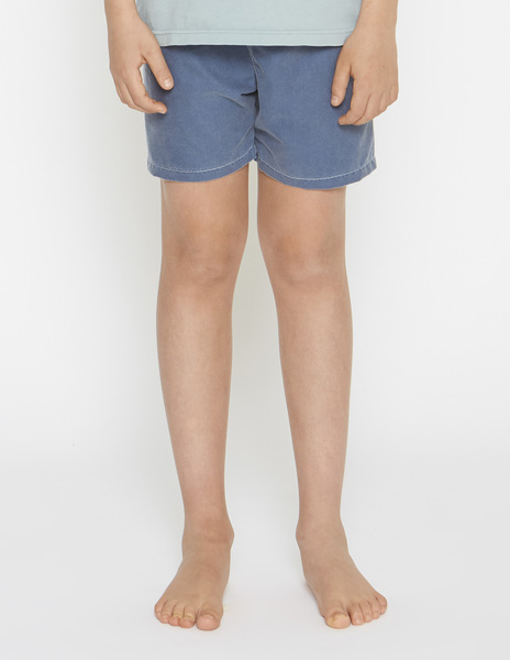 Boys' blue distressed swimming trunks