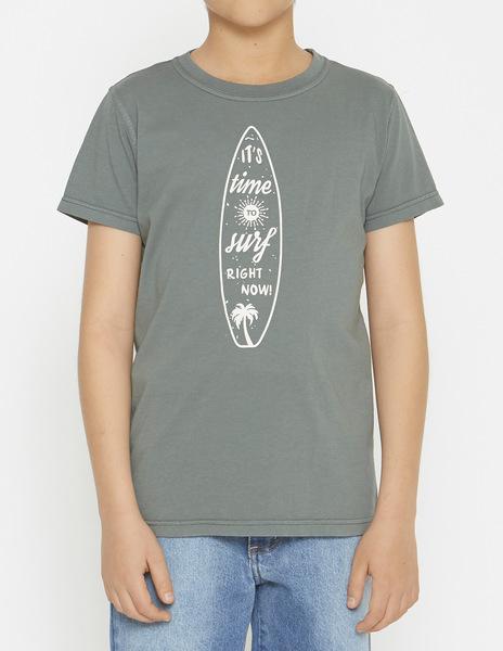 Dark green surfboard t-shirt