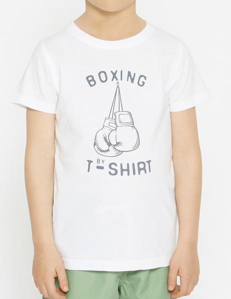 White BOXING t-shirt