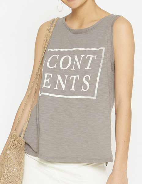 Grey CONTENTS t-shirt