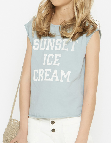 Girls' Turquoise SUNSET t-shirt