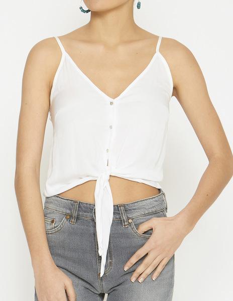 White button strappy top