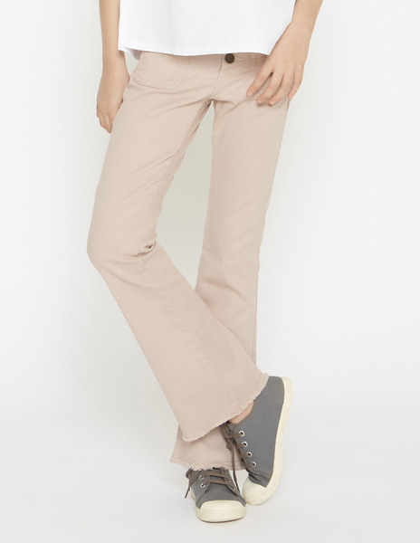 Pink flared jeans
