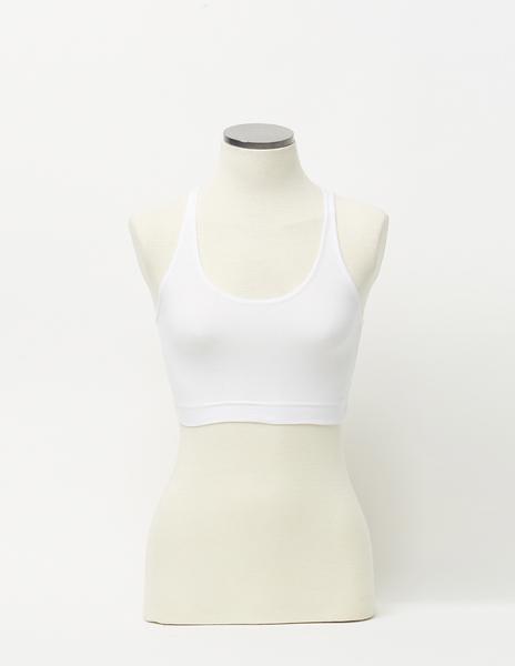 White strappy bandeau top