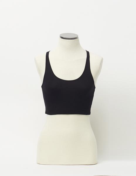Black strappy bandeau top
