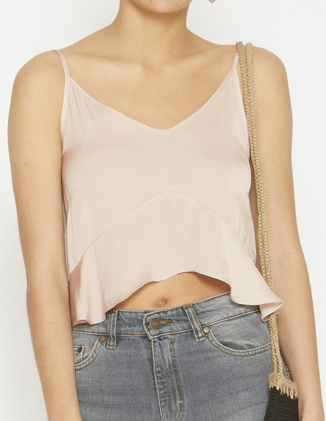 Pink strappy frilled top